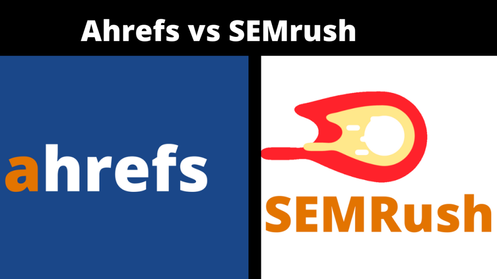 This image show the difference between Ahrefs and SEMrush