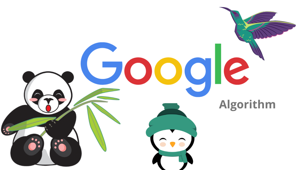 This image show the different type of Google Algorithm